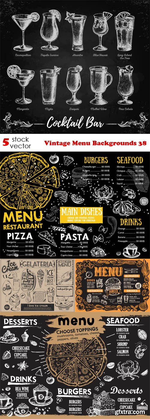 Vectors - Vintage Menu Backgrounds 38