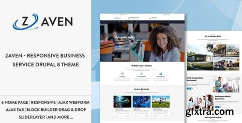 ThemeForest - Zaven - Responsive Business Service Drupal 8.6 Theme (Update: 14 February 19) - 20898278