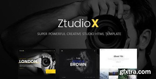 ThemeForest - Ztudio X v1.0 - Creative Studio Photography HTML Template - 23364019