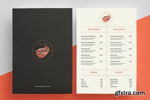 Restaurant Menu + logo