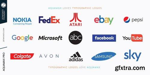 Aquawax Pro Font Family - 27 Fonts