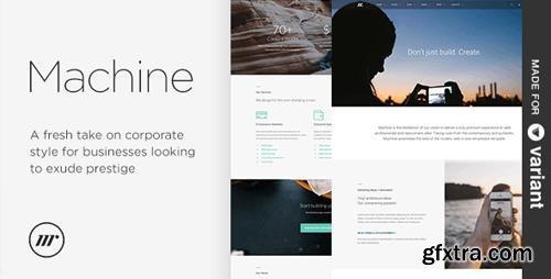 ThemeForest - Machine v2.0.1 - Multi-Purpose HTML + Variant Page Builder - 10024125