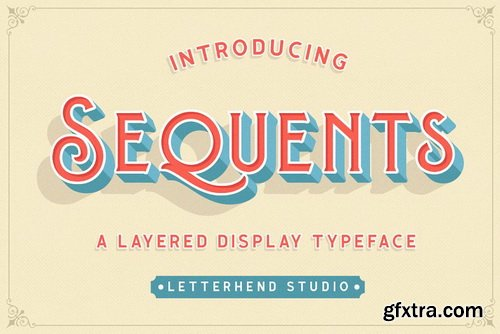 CM - Sequents - Layered Font (+ORNAMENT) - 3569437