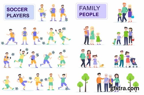 Flat People Characters Pack