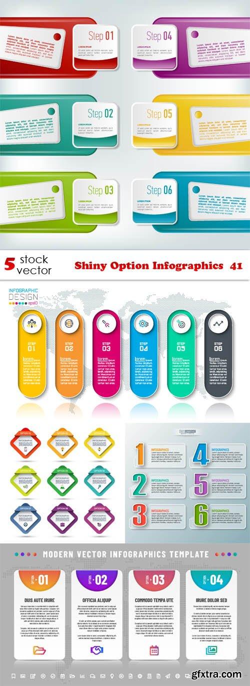 Vectors - Shiny Option Infographics 41
