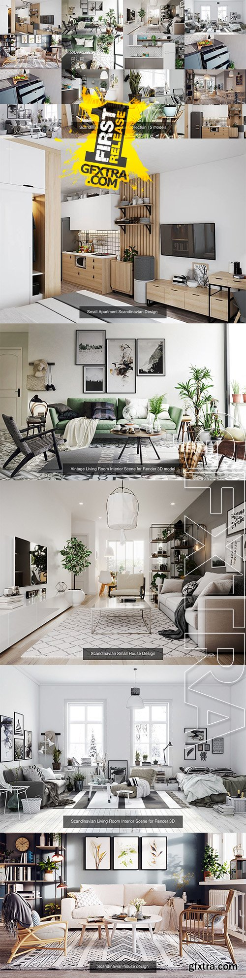 Cgtrader - Scandinavian Style House Collection
