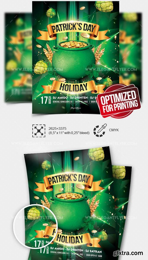 St. Patricks Day Holiday V16 2019 Flyer PSD Template