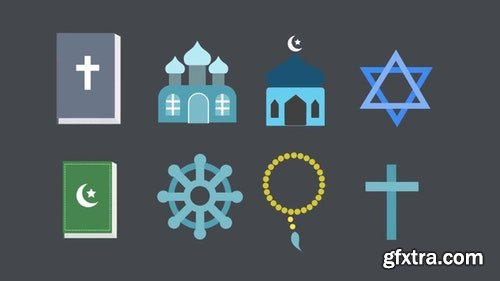 MotionArray Religion Icons Pack 196474