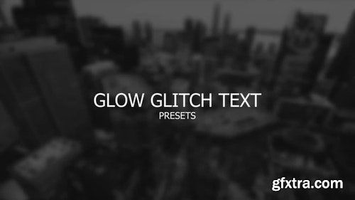 MotionArray Glow Glitch Text 196729