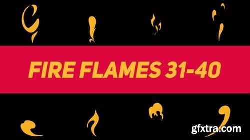 MotionArray Liquid Elements Fire Flames 31-40 196780