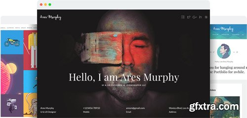 JoomShaper - Ares Murphy v1.8 - Premium Joomla Template for Portfolio, Blog and Resume Sites