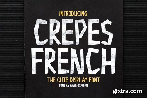 CM - Crepes - The Cute Display Font 3590087