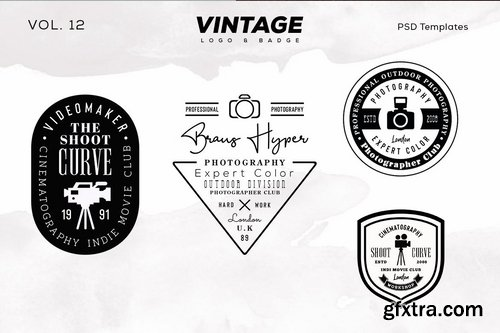 Vintage Logo & Badge Vol. 11