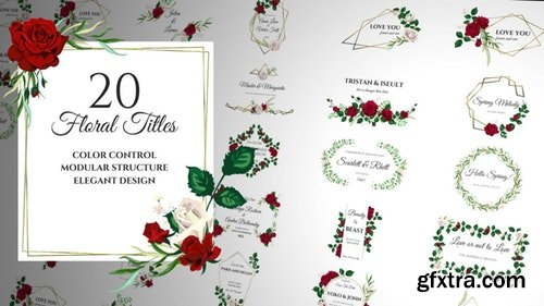 MotionArray Floral Romantic Titles 196489