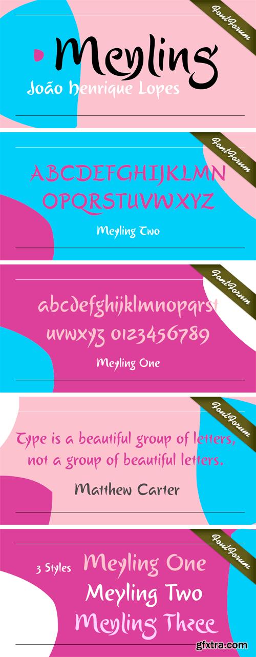 Meyling Font Family