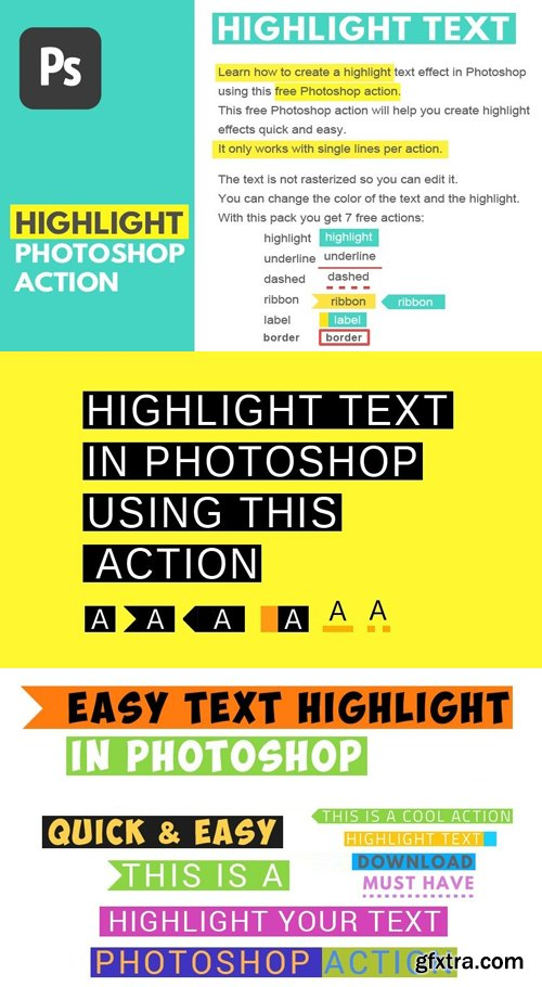 Highlight Text Photoshop Action