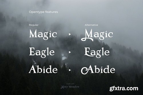 CM - Misty Meadow - Mystical Serif Font 3590795