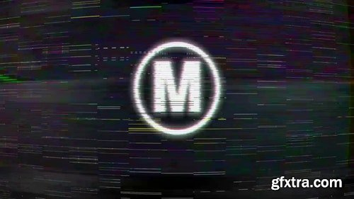 MotionArray TV Noise Logo 197587