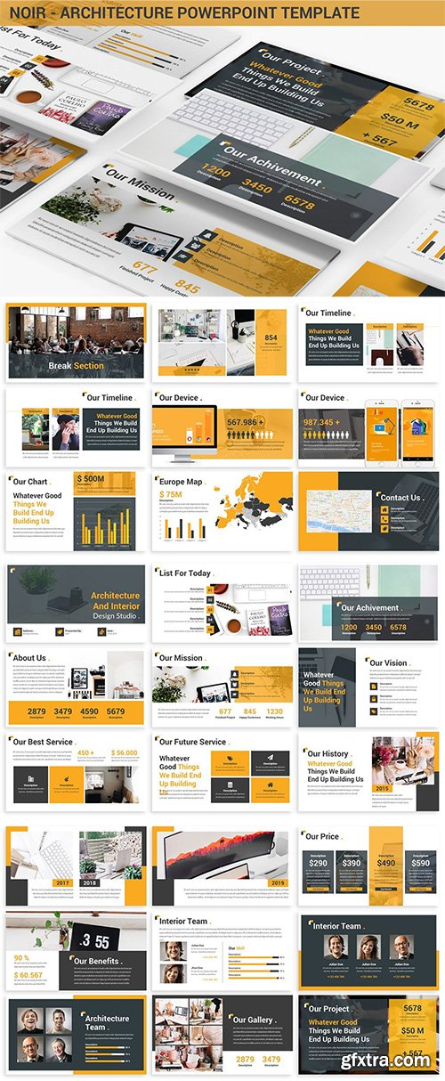 Noir - Architecture Powerpoint Template