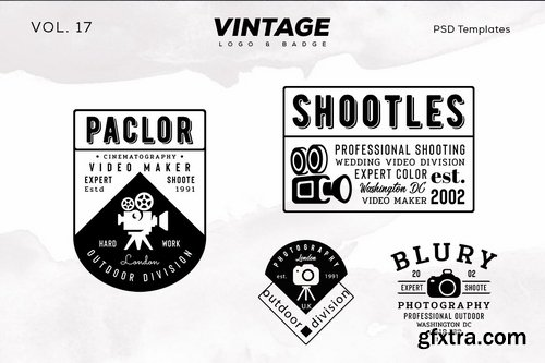 Vintage Logo & Badge Vol. 17