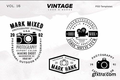 Vintage Logo & Badge Vol. 16