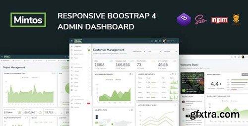 ThemeForest - Mintos - Responsive Bootstrap 4 Admin Dashboard Template - 23342415