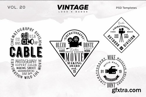 Vintage Logo & Badge Vol. 20