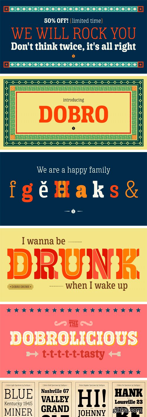 Dobro Font Family