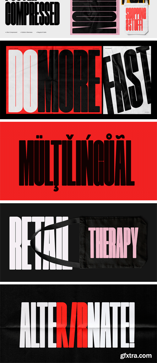 Poster Compressed Font Family