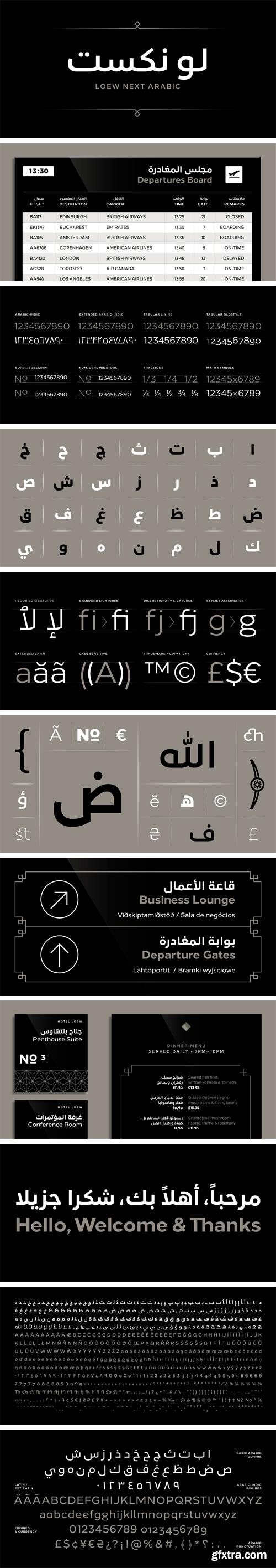 Loew Next Arabic Font Family