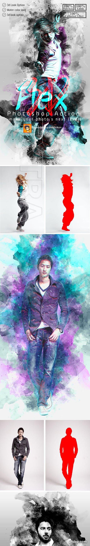 GraphicRiver - 3D Flex Photoshop Action 23309142