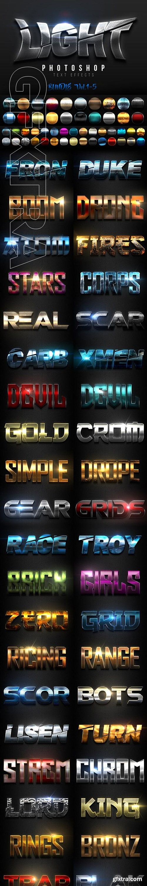 GraphicRiver - Light Text Effects Bundle I 23371204