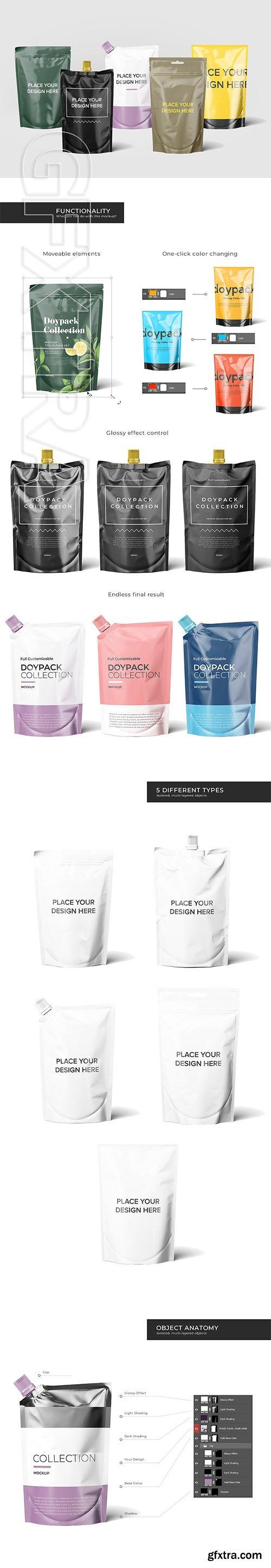 CreativeMarket - Doypack Mockup Collection 3453939