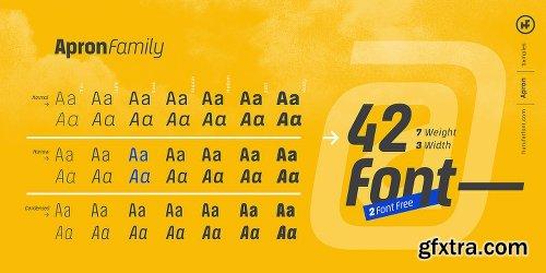 Apron Font Family - 42 Fonts