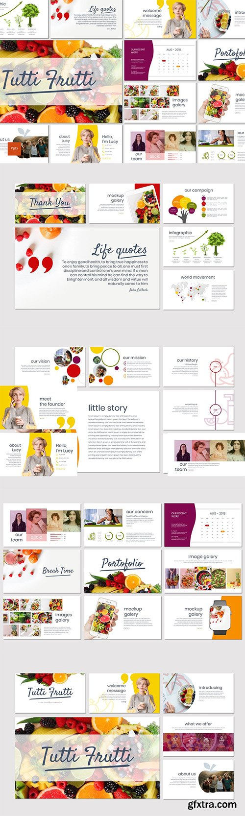 Tutti Frutti - Powerpoint Keynote and Google Slides Templates