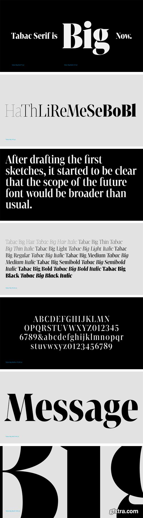 Tabac Big Font Family