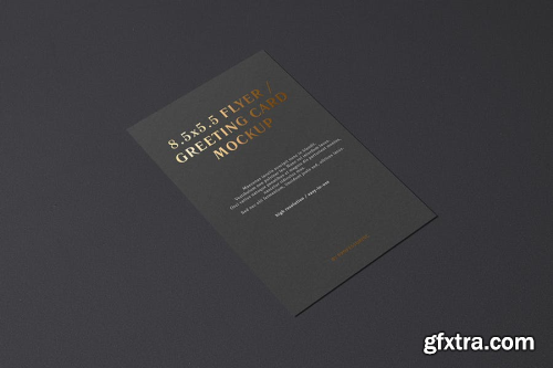 5.5x8.5 Flyer / Postcard / Greeting Card Mockup