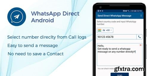 CodeCanyon - WhatsApp Direct - Send Message Without Contact Android Code (Update: 30 January 19) - 22864516
