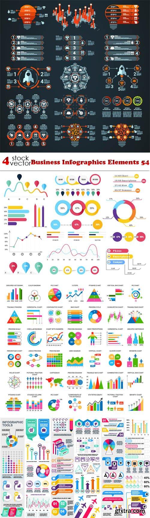Vectors - Business Infographics Elements 54