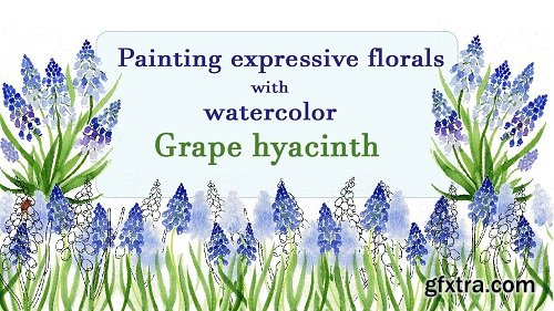Painting expressive florals with watercolor: Grape hyacinth / Muscari