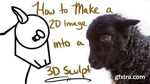 How to Make a 2D Image into a 3D Sculpt