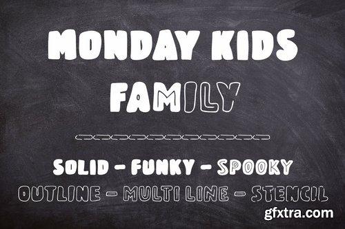 Monday Kids - 6 Fonts Family