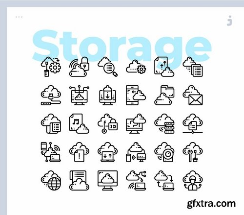 30 Cloud Storage Icons