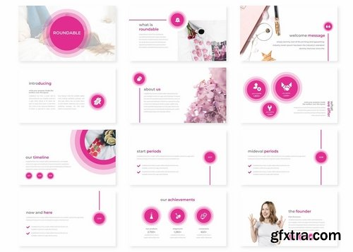 Roundable - Powerpoint Keynote and Google Slides Templates