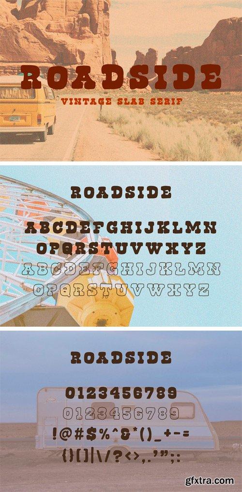 CM - Roadside | Vintage Slab Serif 3532075