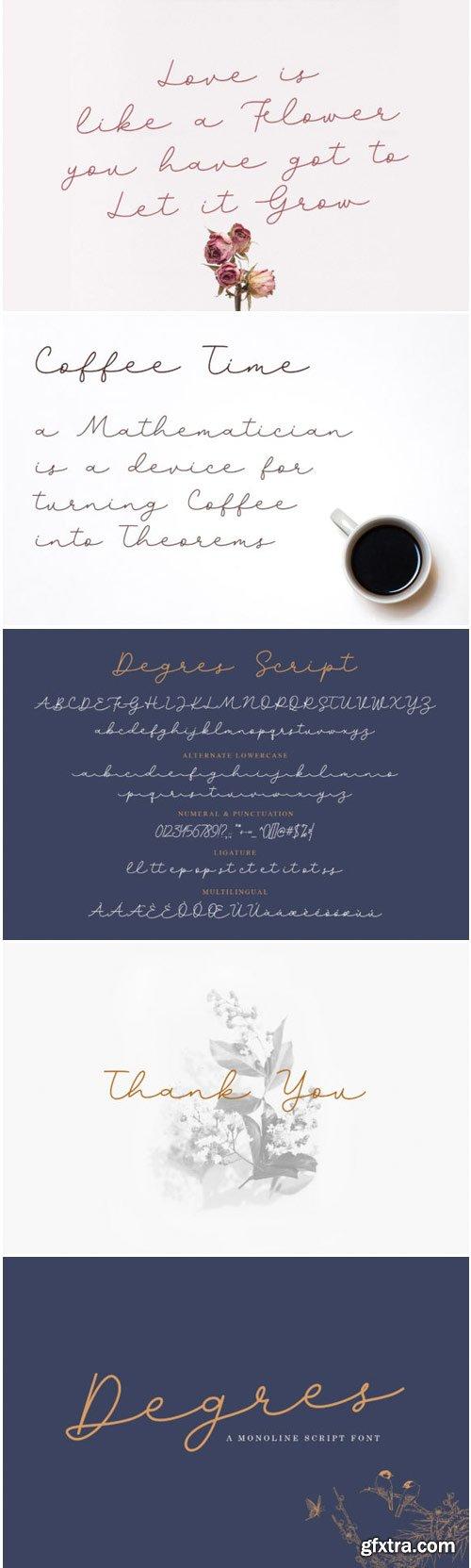 Degres Script Font