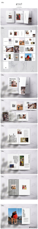 CreativeMarket - PIXEL Lookbook Memories Template 3587390