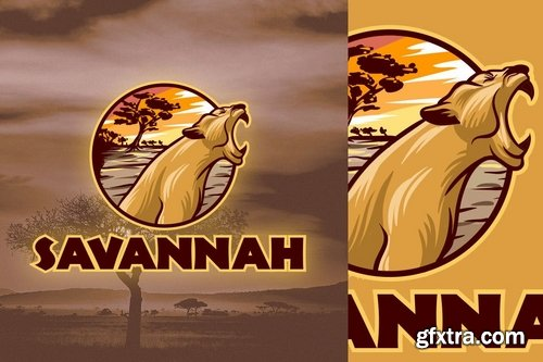 African Lioness Logo