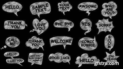 MotionArray Comic Speech Bubbles 197270
