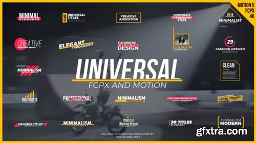 Videohive - Universal Titles // FCPX or Motion 5 - 23279813